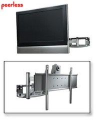 Peerless PLA50-UNLP-GB Universal Articulating TV Wall Mount for 37 - 80 Inch TV's - Gloss Black
