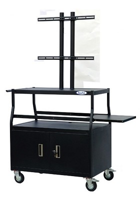 Buhl PLCAB4420E Flat Panel TV Cart with Locking Cabinet Holds up to 55 inch Panel