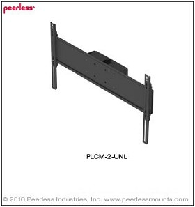 Peerless PLCM-2-UNL Flat Panel Ceiling Mount. Ceiling plate, extension columns sold separately