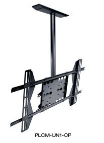 Peerless PLCM-UN1-CP Universal Flat Panel Ceiling Mount with Structural Ceiling Plate for 32 in. - 50 in. Screens, for Portrait or Landscape Mounting - Black