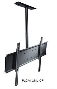 Peerless PLCM-UNL-CP Universal Flat Panel Ceiling Mount with Structural Ceiling Plate for 32 in. - 60 in. Screens Landscape Mounting - Black