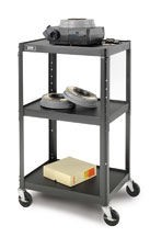 Dalite PM6-42J PixMate Cart - Ready to Assemble 25x30 Shelf with 3 Outlet Electric