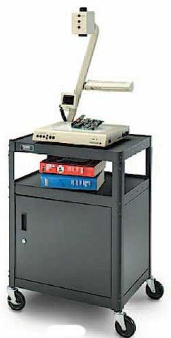 Dalite PM6C-54 PixMate Cart - Ready to Assemble with Metal Cabinet 25x30 Shelf with 3 Outlet Electric