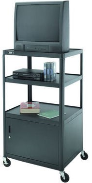 Dalite PM6CM-54J PixMate Cart - Ready to Assemble with Metal Cabinet 25x30 Shelf with 3 Outlet Electric