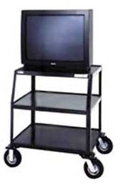 Dalite PM8-44LT PixMate Cart - Ready to Assemble with Wide Base 24x38 Shelf