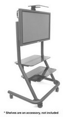Chief PPCU Video Conferencing Cart With Universal Interface Bracket - Black