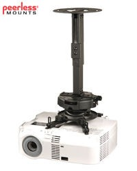 Peerless PRS-KIT1420 14 in.-20 in. Adjustable Height Universal Projector Ceiling Mount Kit