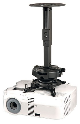 Peerless PRG-EXA Universal Precision Gear Finished Ceiling Projector Mount - Black