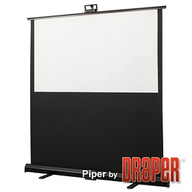 Draper 230164 Piper Portable 55 in. HDTV Format Matt White XT1000E Surface
