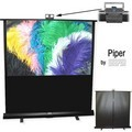 Draper 230161 Piper Portable 60 in. Video Format Matt White XT1000E Surface