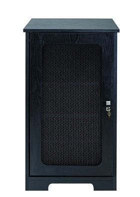 Raxxess BRG-20DLP Boardroom Group 20U Vertical rack with perforated steel front doors.