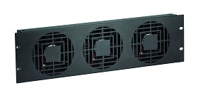 Raxxess NAF31QBA Quiet Fan Panel, 3U, 1 Fan, 60 Cfm, Ba