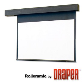Draper 115172 Rolleramic Motorized, 7 Foot Video Format Contrast Grey XH800E Surface
