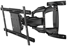 Peerless SA763PU SmartMount Universal Articulating Dual-Arm Wall Mount for 37 in. - 63 in. Flat Panel Screens - Black