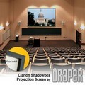 Draper 253033 ShadowBox Clarion Fixed, 6-1/2 Foot Video Format Pearl White CH1900V Surface