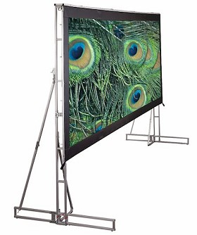 Draper 221059 Truss-Style Cinefold Portable, 12 Foot 3 in. x 21 Foot HDTV Format CineFlex CH1200V Rear Projection Surface