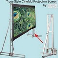 Draper 221008 Truss-Style Cinefold Portable, 11 Foot 6 in. x 15 Foot Video Format Flexible Matt White XT1000E Surface