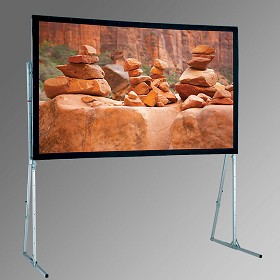 Draper 241262 Ultimate Folding Screen with Extra Heavy-Duty Legs 10' x 10' Square CineFlex CH1200V Rear Projection Surface