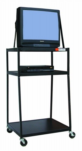 Buhl WC54E-5 Wide Body Media Cart 54 inch High with Electric
