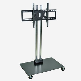 Luxor WPSMS44CH-4 Mobile Flat Panel Stand for 32-60 Inch TV's - 50 Inches Tall