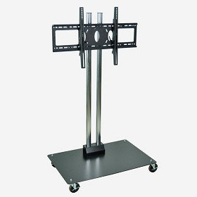 Luxor WPSMS62CH-4 Mobile Flat Panel Stand for 32-60 Inch TV's - 60 Inches Tall