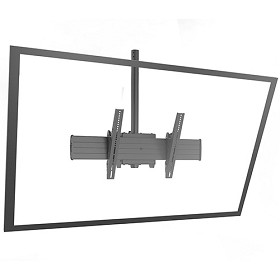 Chief XCM1U Fusion X-Large Single Pole Flat Panel Ceiling Mounts - Black