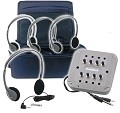 Hamilton Electronics CB/4SVHA2 MP3 Listening Center - 4 Personal Headphones, Jackbox with Volume, Carry Case