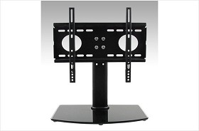 CiERA Portables FLEX STAND JR Convertable Desktop Stand and TV/Monitor Wall Mount for 26-40 Inch TV's - Black