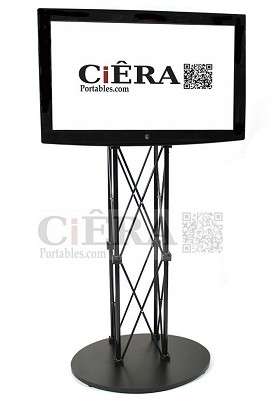 CiERA EZ Fold Portable TV Stand for 40-70 Inch TV's - Black