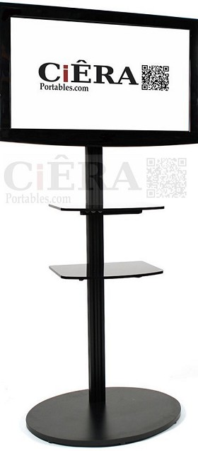 CiERA EZ Stand Tall™ Portable 73 Inch Tall  Flat Panel Display Stand for 40-70 Inch TV's and Monitors - Black