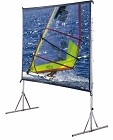 Draper 218099UW Cinefold Projection Screen with Heavy Duty Legs Square Format 8x8 with Cineflex Dual XT600V Front and Rear Projection Surface