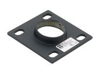 Chief CMA105 4 Inch Ceiling Plate W 1 1/2 Inch NP - Black