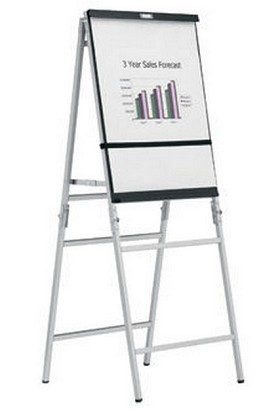DaLite 43153 Heavy Duty Folding - Black/Silver Anodized A-Frame Easel