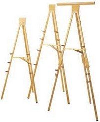 DaLite 43162 H323-Heavy Duty (6') Gold Anodized Display Easels