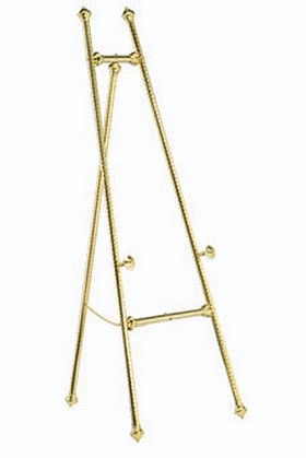 DaLite 43168 Swirled Brass Display Easel Giant Paper Pad Easel
