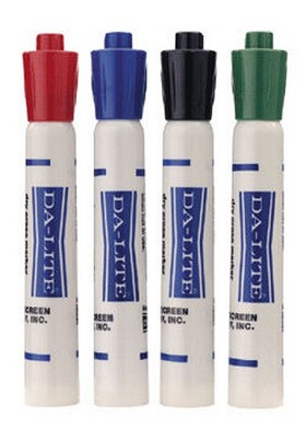DaLite 43220 Markers-set of 1 ea. of 4 colors Presentation Accessories