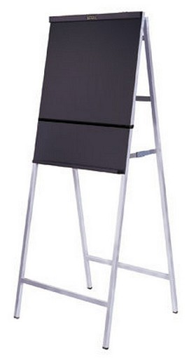 DaLite 77755 Heavy Duty Non-Folding - Black/Silver Anodized A-Frame Easel