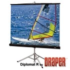 Draper 215001 Diplomat/R Portable, 50 in. x 50 in. AV Format Matt White XT1000E Surface