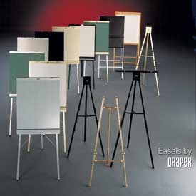 Draper DR160 Poster Easel Decorative Black Hardwood