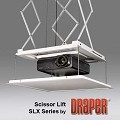 Draper 300253 SLX21 Scissor Projector Lift Kit including Air Space Housing, Closure Panel and 2-HDMI, 2-VGA, 1-CAT6  Integrated Cables and LVC with Wall Switch