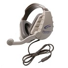 Califone DS-8V Discovery Headset 3.5mm stereo headphone plug, electret mic, 3.5mm stereo mic plug, replaceable 6' cord