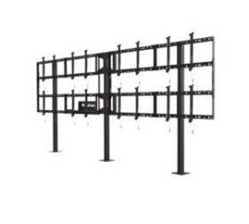 Peerless DS-S555-4X2 Modular Video Wall Pedestal Mount 4x2 Configuration