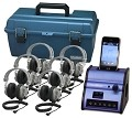 Hamilton Electronics DSIP-SC7V Listening Center - Hamilton Digital Audio Hub with 6 SC7V Deluxe Headphones and Plastic Carry Case