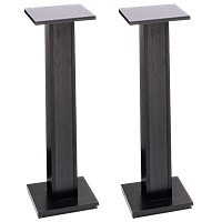 Raxxess ERSS-36 36 Inch Black Oak Melamine Speaker Stands