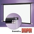 Draper Evenroll Rope & Pulley 30 foot 216x288 Video Format Matt White XT1000E Surface