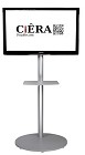 CiERA EZ StandTall ONE Portable TV Stand 70 Inch Tall for 28-70 Inch TV's - Silver