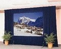 Da-Lite 88738PBU Fast-Fold Deluxe Velour Full Drapery Kit 6 x 8 foot Screen with Adjustable Skirt Bar and Poly Case - Blue