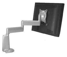 Chief KCD110S Dual Arm Desk Mount Single Monitor - Silver