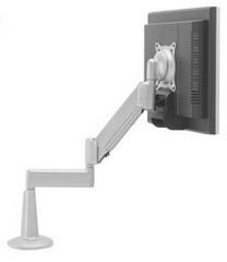 Chief KCG110S Lifting Dual Arm Desk Clamp - Silver