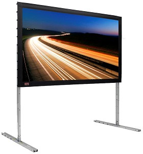 FocalPoint (black), 240 Inch Diagonal, Video Format, Cineflex Dual XT600V Front and Rear Projection Surface